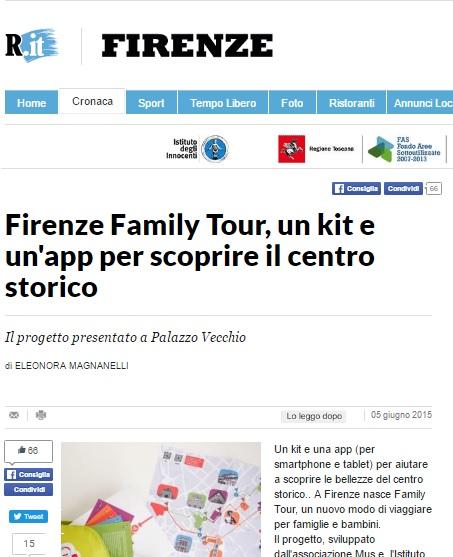 Firenze Family Tour, un kit e un'app per scoprire il centro storico