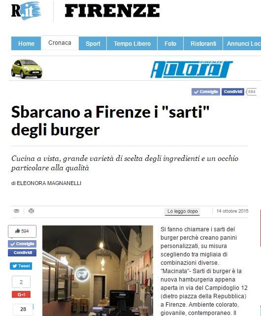 Sbarcano a Firenze i sarti del burger