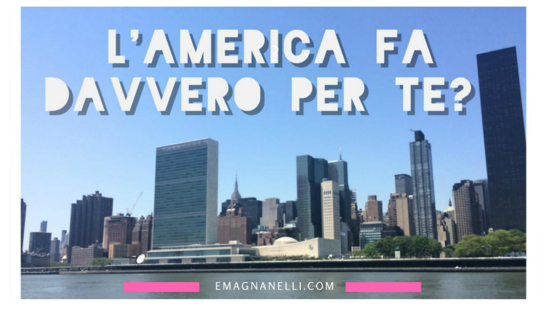 L'America fa davvero per te?   Qualche consiglio prima di prendere quell'aereo!